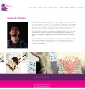 Daniel de Carvalho - página de Artistas FLAC, Feira Livre de Arte Contemporânea 2017