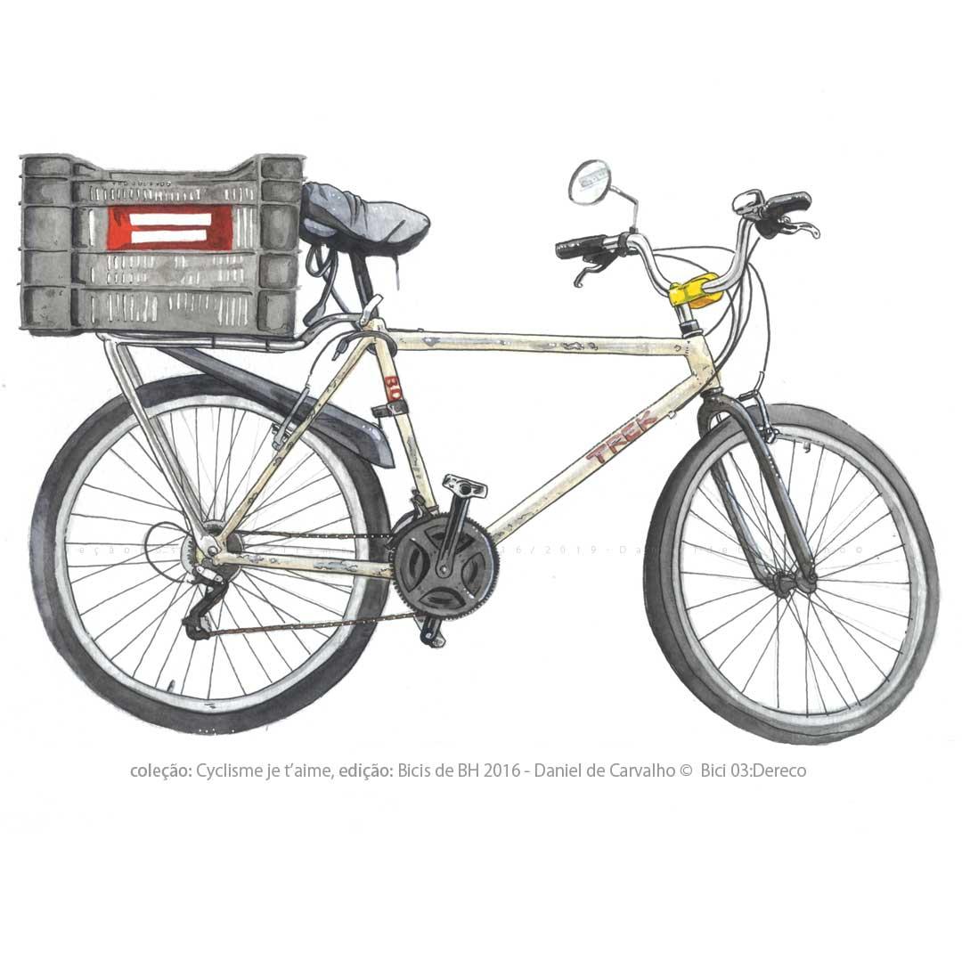 Pintura Aquarela: Coleção Postal Cyclisme je t`aime dição: Bicis de BH DanieldeCarvalho© 2016 DERECO