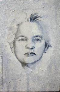 Dona-Delia, 2012 óleo sobre tela, 20x30cm Série: Retratos