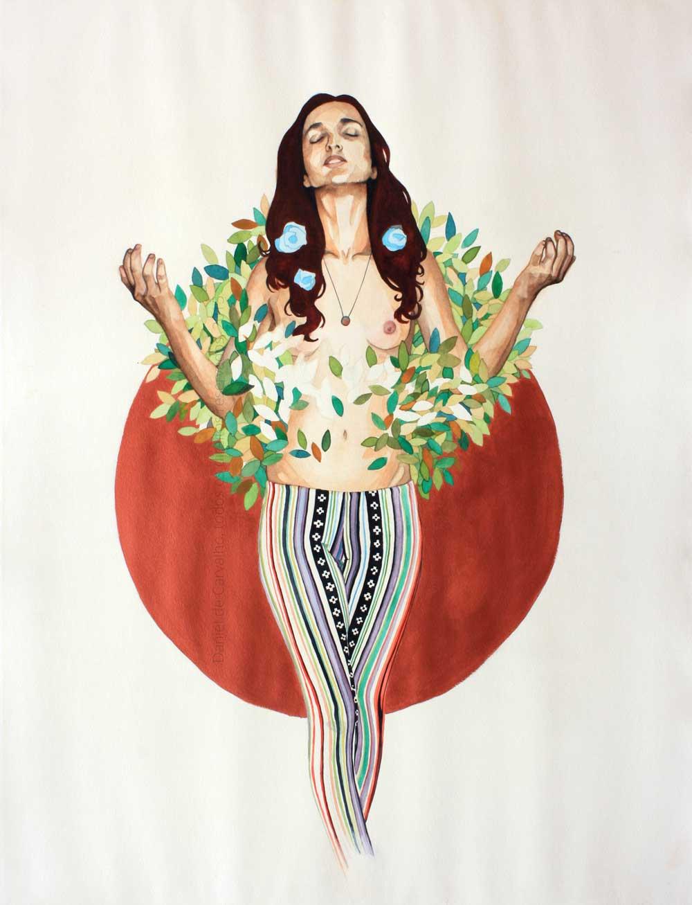 Helena, 2015 Aquarela e Acrílica sobre Canson Edition 56 x 76 cm Série: O Corpo Árvore