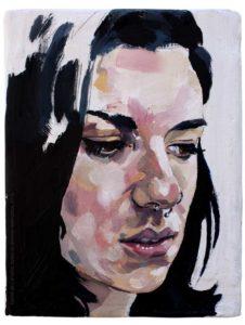 Pintura a óleo: M Comini 2016 oléo sobre tela 10 x 15 cm Série: Retratos