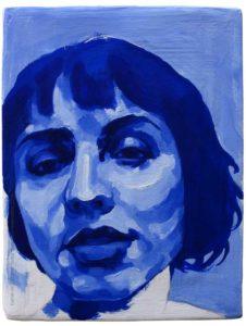 Pintura a óleo: M Faria 2016 óleo sobre tela 20 x 15 cm Série: Retratos