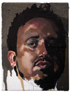 Pintura a óleo: Alves 2016 óleo sobre tela 20 x 15 cm Série: Retratos