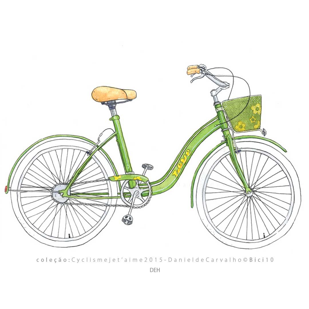 Coleção Postal Cyclisme je t`aime DanieldeCarvalho© 2015 DEH