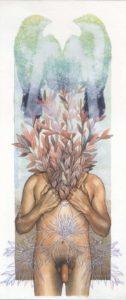 Pintura Aquarela: Ensaio sobre a liberdade 2, 2018 Aquarela, Acrílica e Monotipia 19,5x46cm Série: O Corpo Árvore