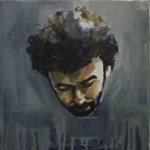 Gilson Rodrigues, 2012 óleo sobre tela, 28x28cm Série: Retratos