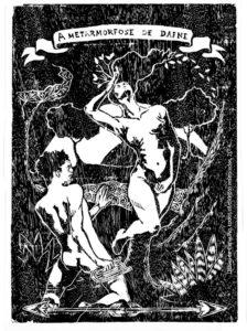 XiloGravura A MetaARmorfose de Dafne 2014 30x40 cm Xilogravura tiragem-30 Série: O Corpo Árvore