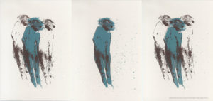 Gravura em Serigrafia Câmbio vascular ∞ 2015-Dimensões 63,6-x-29,8cm Serigrafia sobre Fabriano - Série: O Corpo Árvore tiragem: Trípdico (tiragem única)