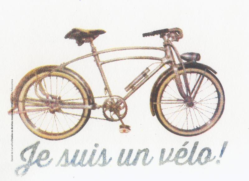 Gravura em Serigrafia Je Suis Un Vélo, 22,3x31,3 cm, Serigrafia Policromia - 2016 - Tiragem: 19 cópias