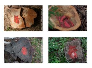 Gravura Stencil Intervenção Urbana - Genocídio Stencil 2013 Série: O Corpo Árvore